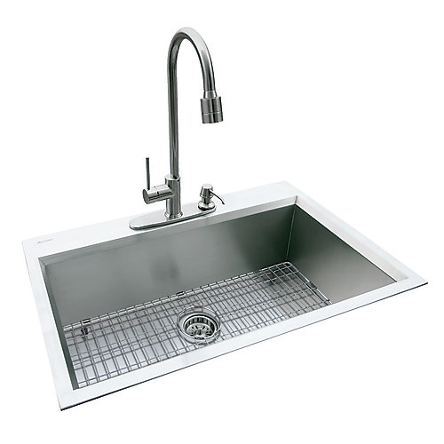 10 Inch Deep Kitchen Sinks Glacier bay dual mount 315 inch x 205 inch x 10 inch deep welded dual mount 315 inch x 205 inch x 10 inch deep welded single bowl kitchen sink in stainless steel workwithnaturefo