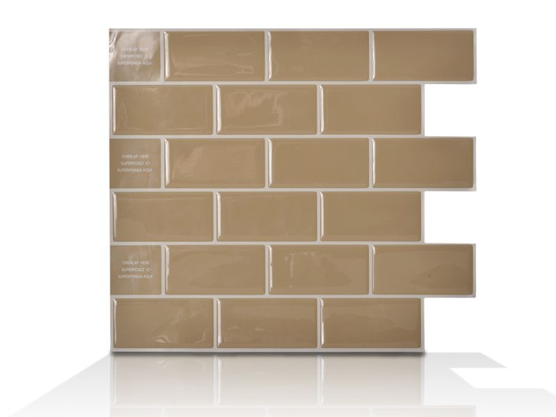 6 - Piece 9.75 Inch x 10.96 Inch Peel and Stick Sand Mosaik