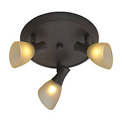 Eglo Ona Ceiling Light-3L, Antique Brown with Champagne Glass