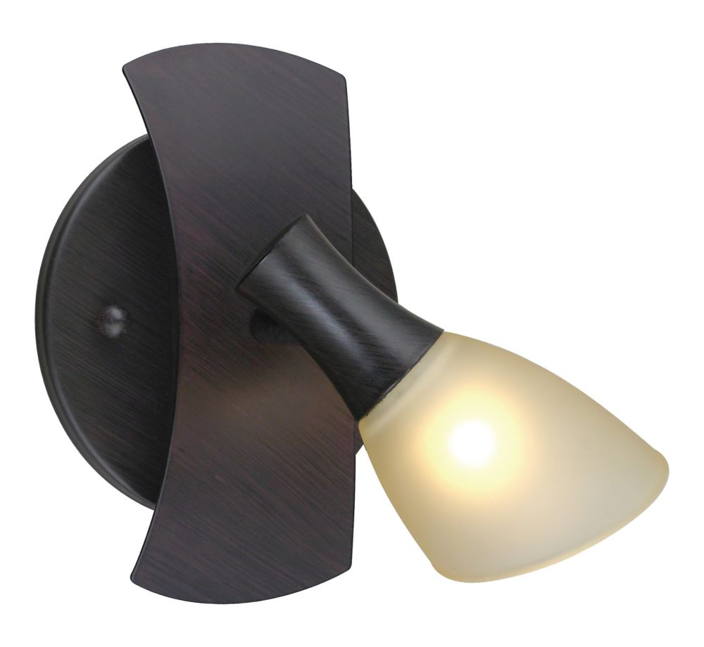Ona Wall Light 1L, Antique Brown with Champagne Glass