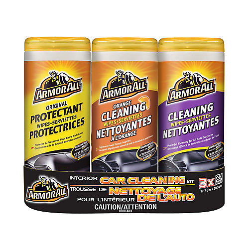 Interior Car Cleaning Wipes (3-pack)