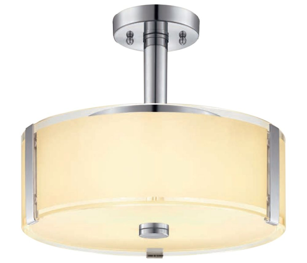 13-3/4 in. Semi Flush Mount, Polished Chrome Finish SFM651CH Canada Discount