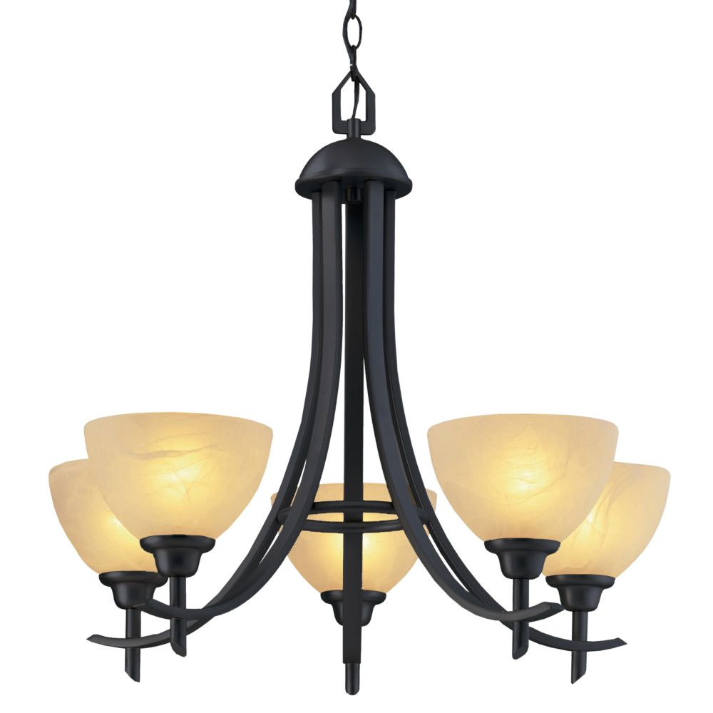 26 in. Chandelier, Old Weathered Bronze Finish