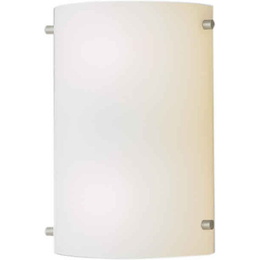 Burton 1 Light Wall Brushed Nickel  Compact Fluorescent Lighting  Wall Sconce