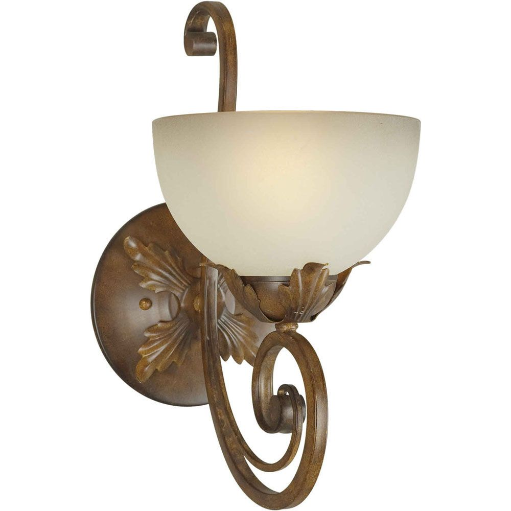 Burton 1-Light Wall Rustic Sienna Wall Sconce