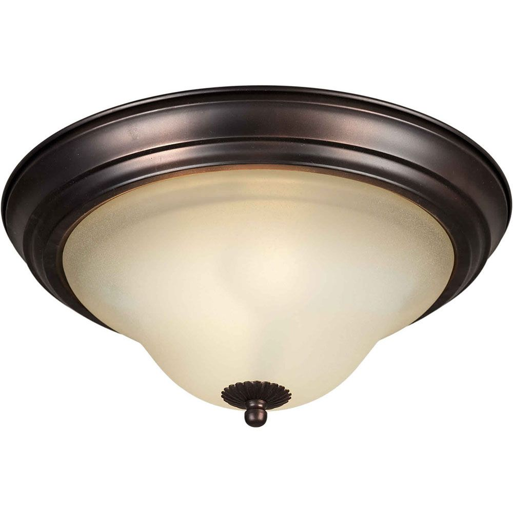 Burton 1 Light Ceiling Antique Bronze  Incandescent Flush Mount