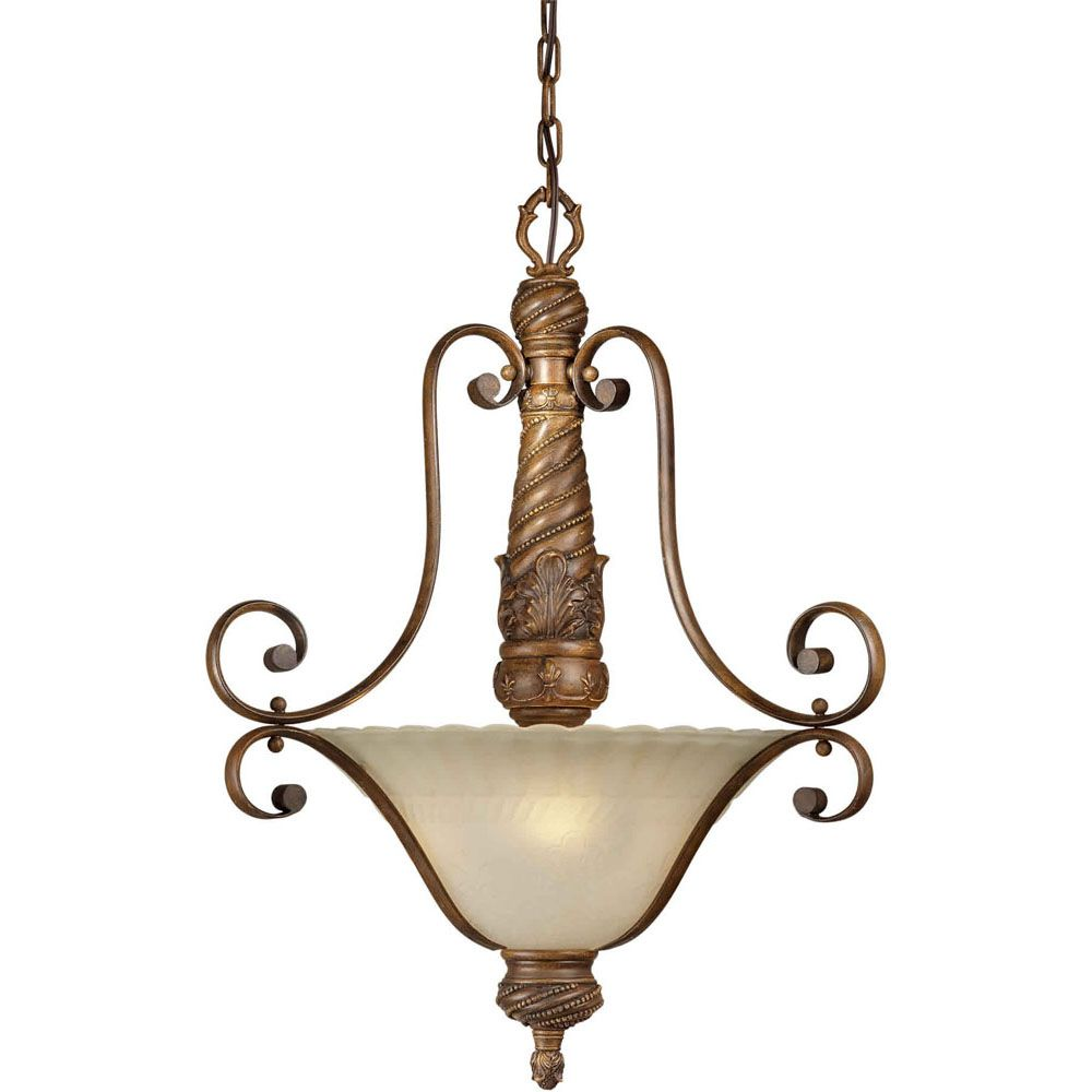 Burton Incandescent Light Ceiling Rustic Sienna  Incandescent Pendant