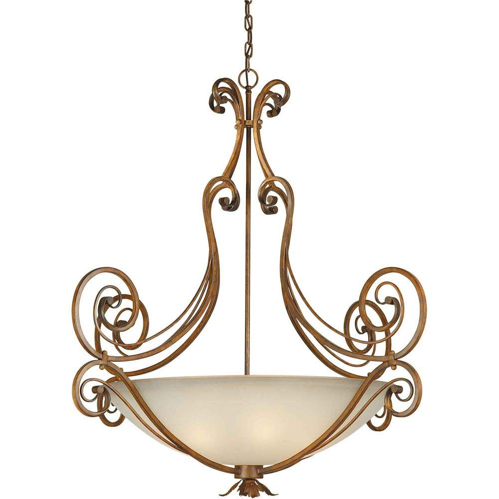 Burton-Light Ceiling Rustic Sienna Pendant