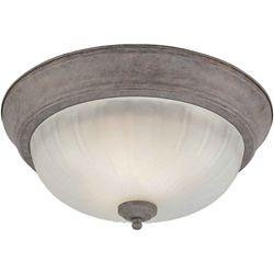 Filament Design Burton 2-Light CFL Flush Mount Ceiling Light Fixture in Desert Stone