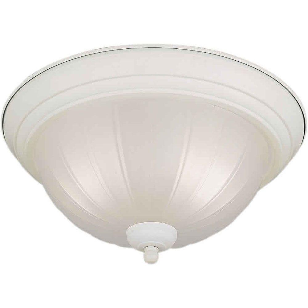 Burton 2 Light Ceiling White  Compact Fluorescent Lighting  Flush Mount