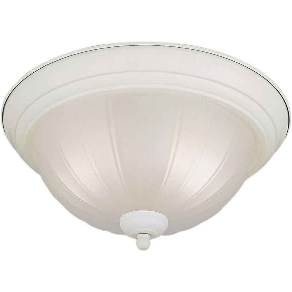 Burton 2 Light Ceiling White  Compact Fluorescent Lighting  Flush Mount