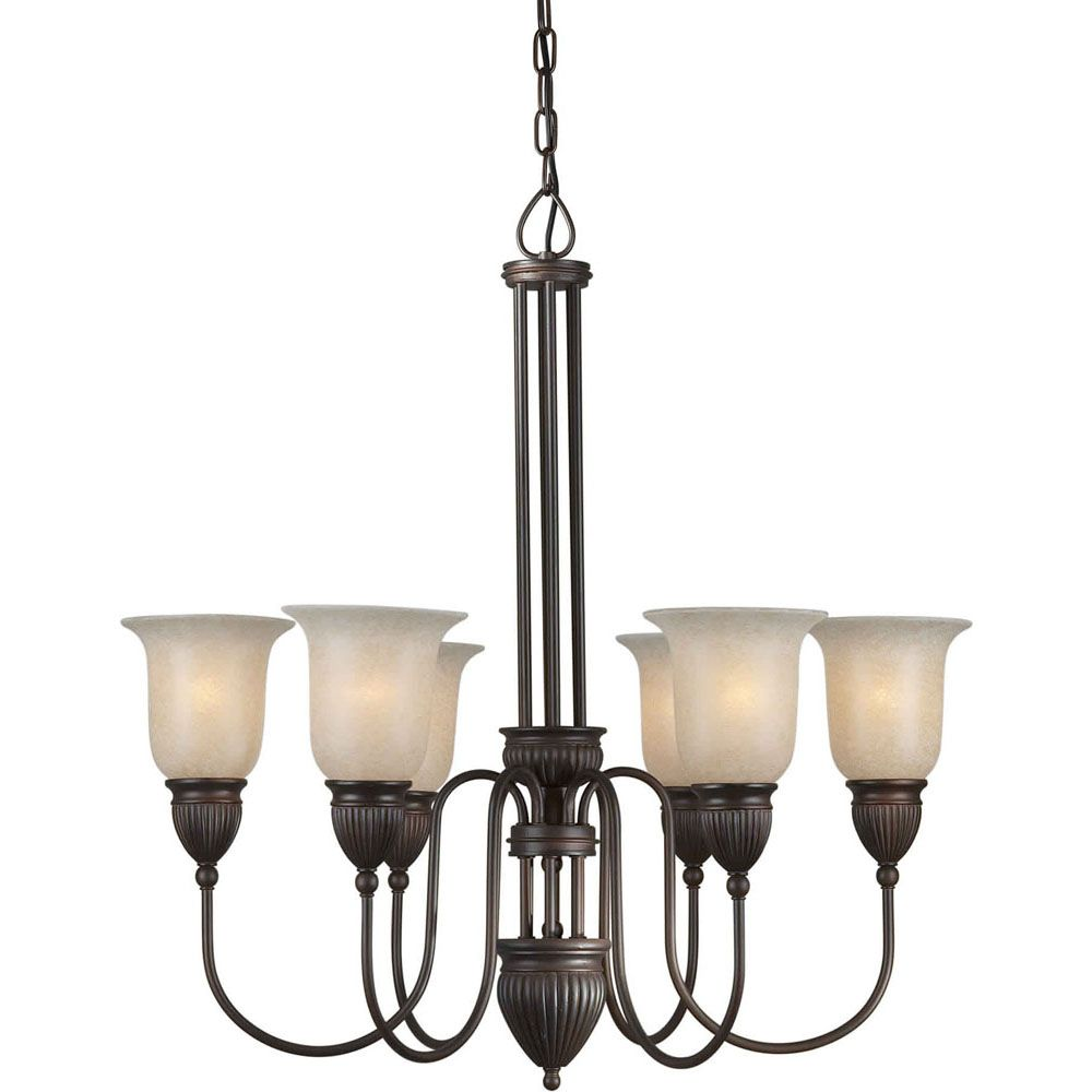 Burton 6-Light Ceiling Antique Bronze Chandelier