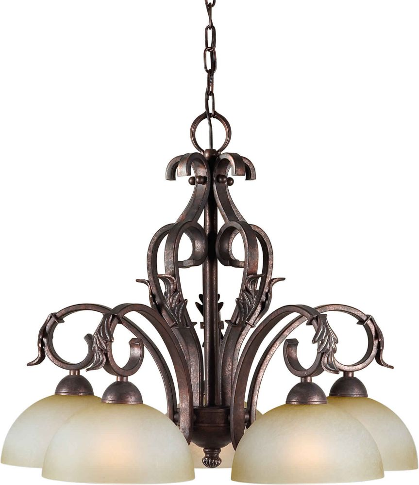 Burton 5-Light Ceiling Black Cherry Chandelier