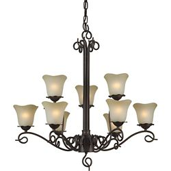 Filament Design Burton 9-Light Ceiling Antique Bronze Chandelier
