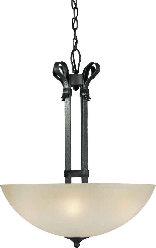 Burton-Light Ceiling Natural Iron Pendant