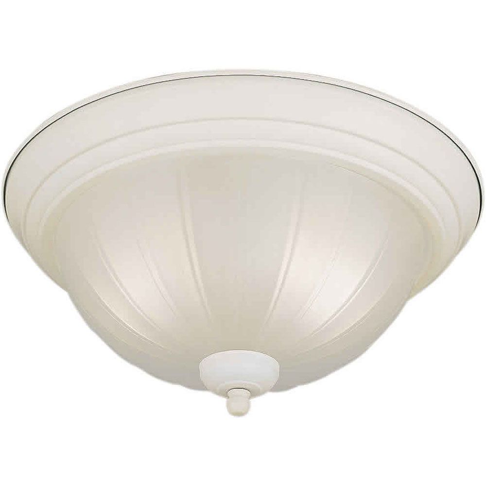 Burton 2 Light Ceiling White  Incandescent Flush Mount