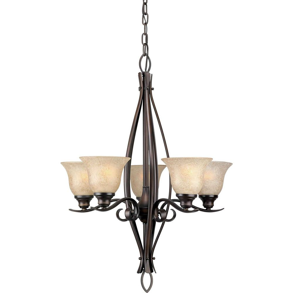 Burton 5-Light Ceiling Antique Bronze Chandelier