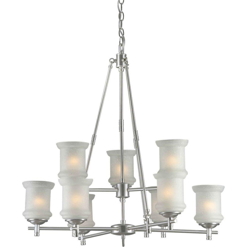 Filament Design Burton 9-Light Ceiling Brushed Nickel Chandelier