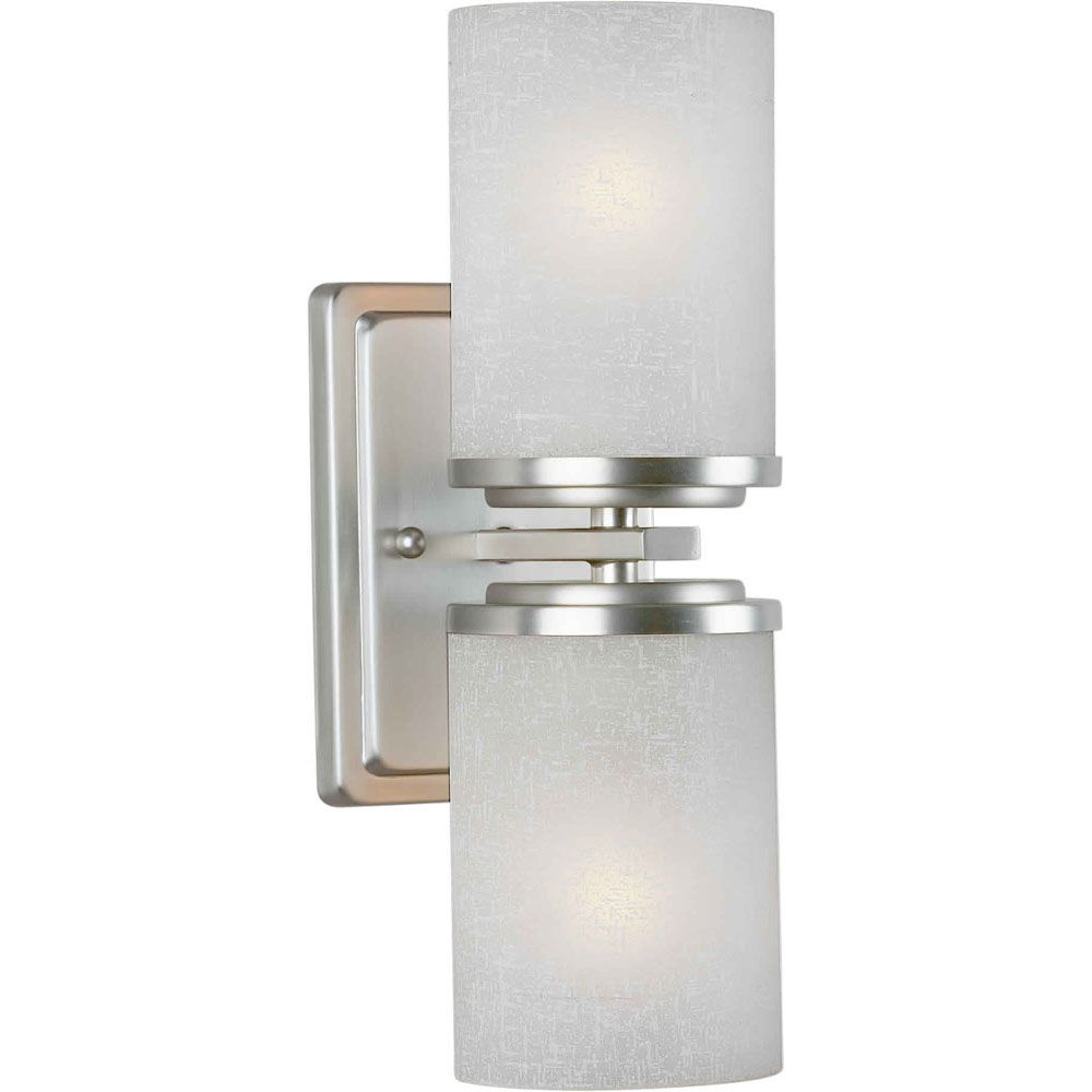 Burton 2 Light Wall Brushed Nickel  Incandescent Wall Sconce