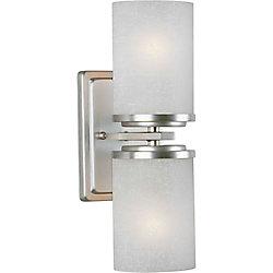 Filament Design Burton 2-Light Wall Brushed Nickel Wall Sconce