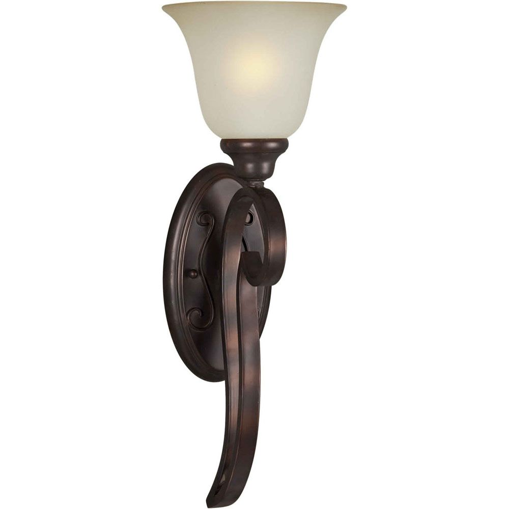 Burton 1-Light Wall Antique Bronze Wall Sconce