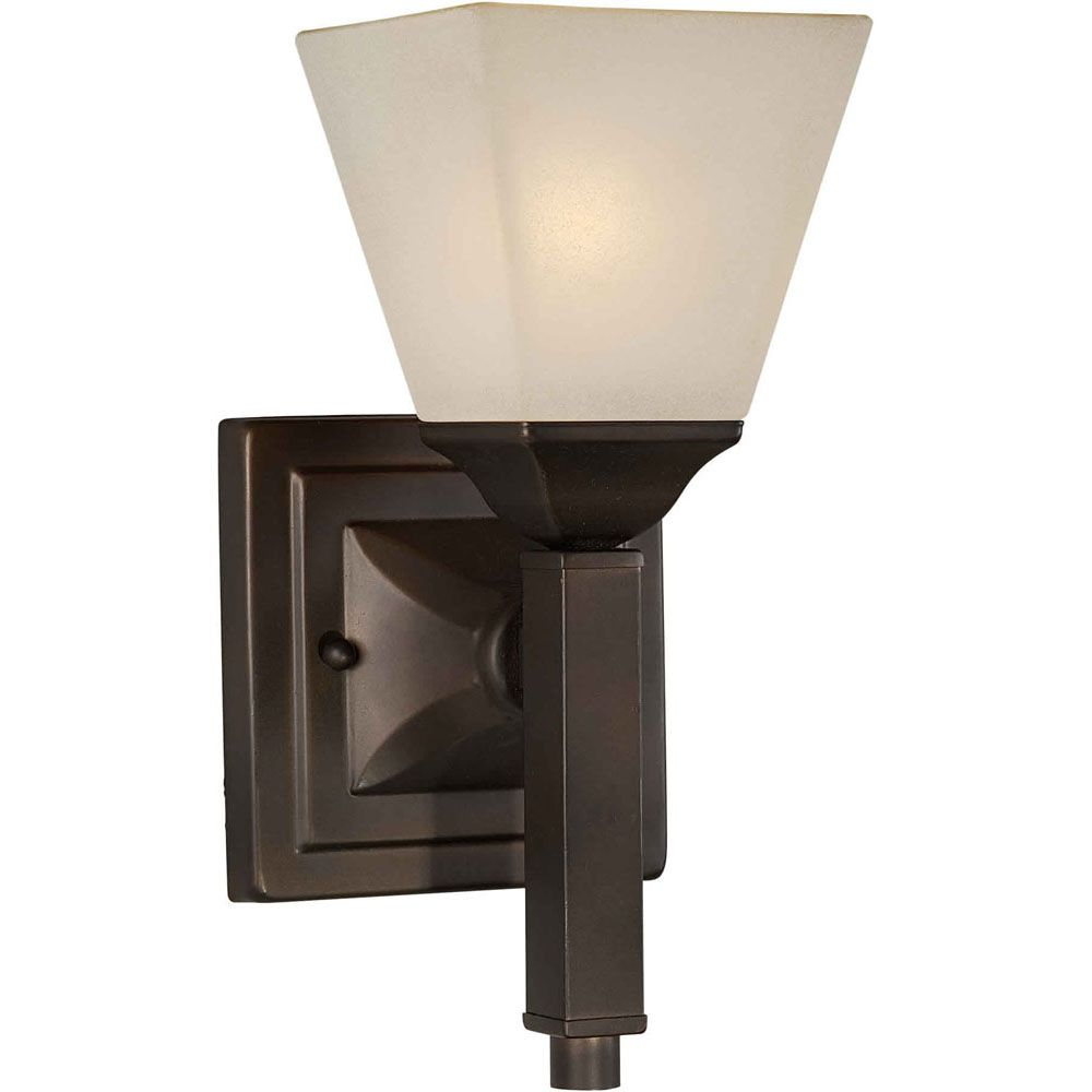 Burton 1 Light Wall Antique Bronze  Incandescent Wall Sconce