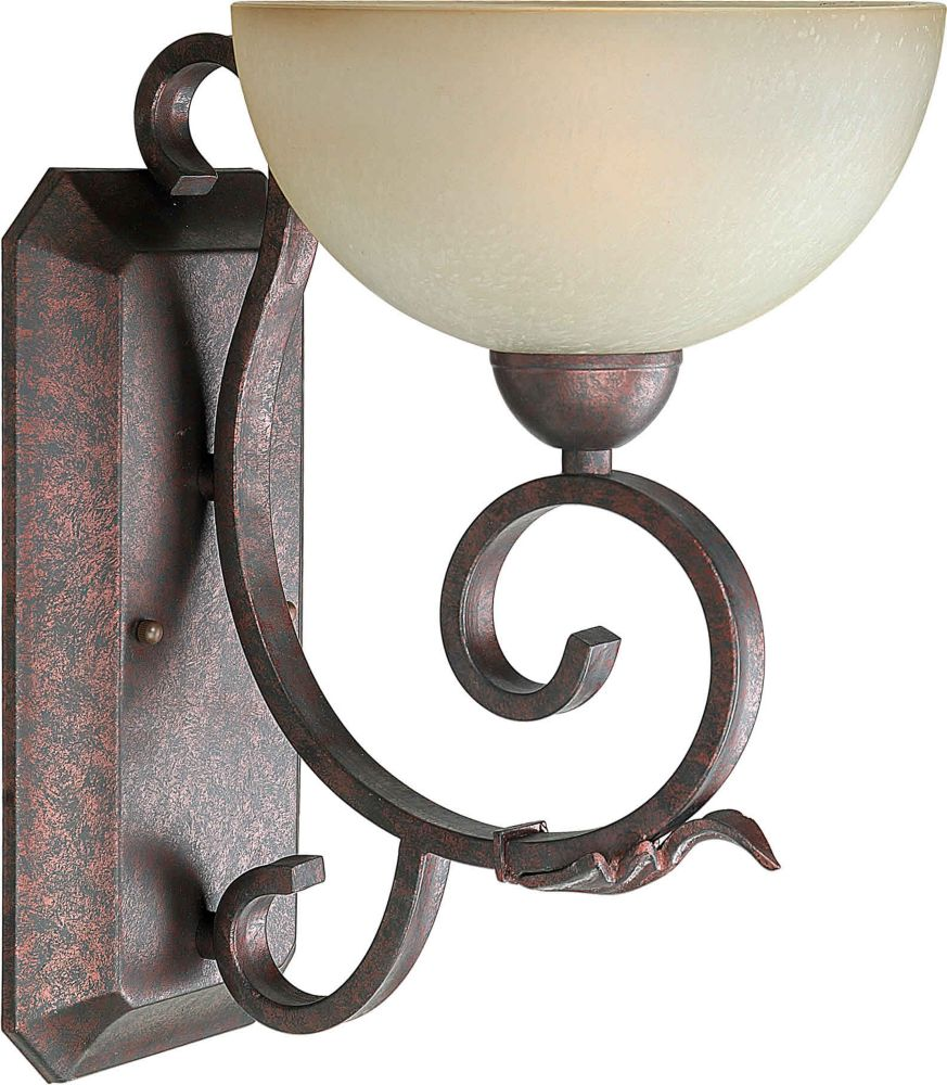 Burton 1 Light Wall Black Cherry  Incandescent Wall Sconce