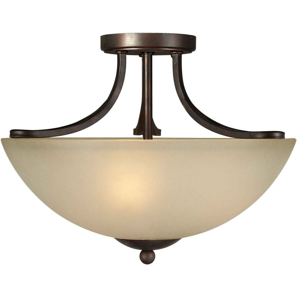 Filament Design Burton 3 Light Ceiling Antique Bronze