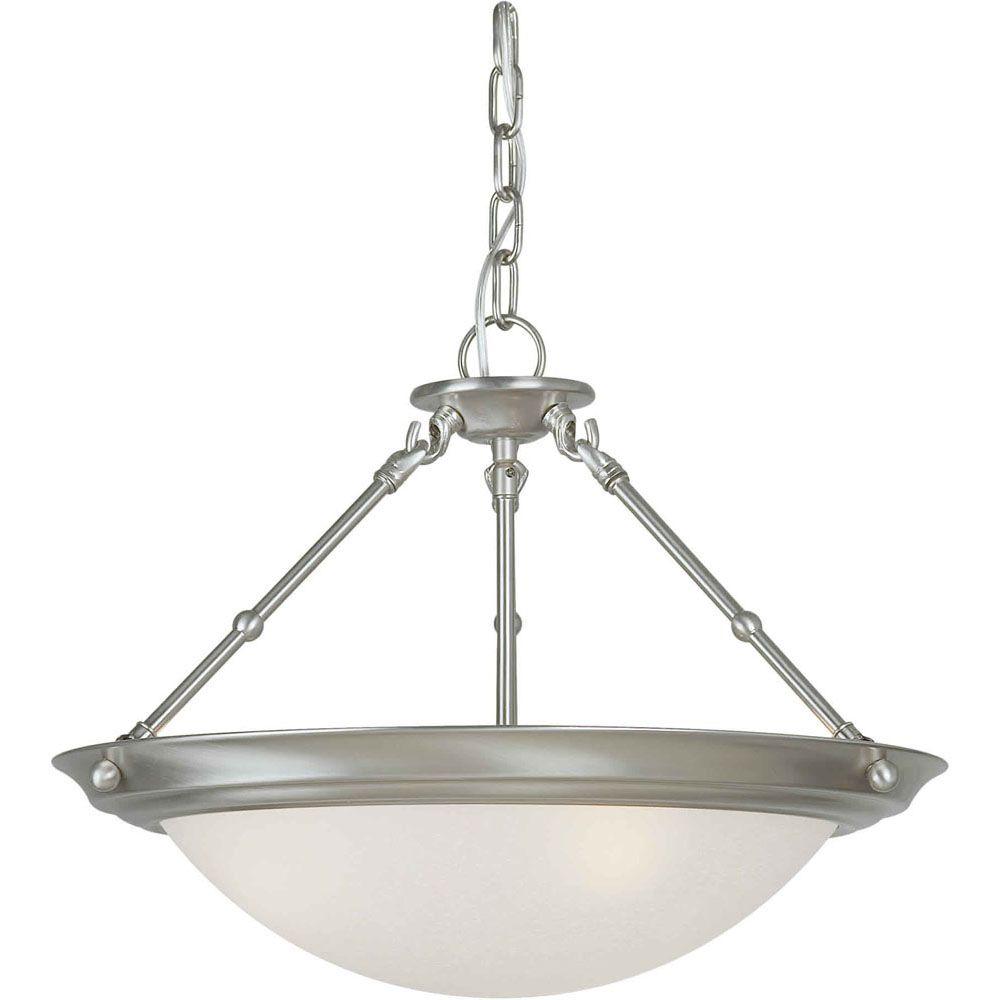 Filament Design Burton 3-Light Ceiling Brushed Nickel Semi Flush Mount