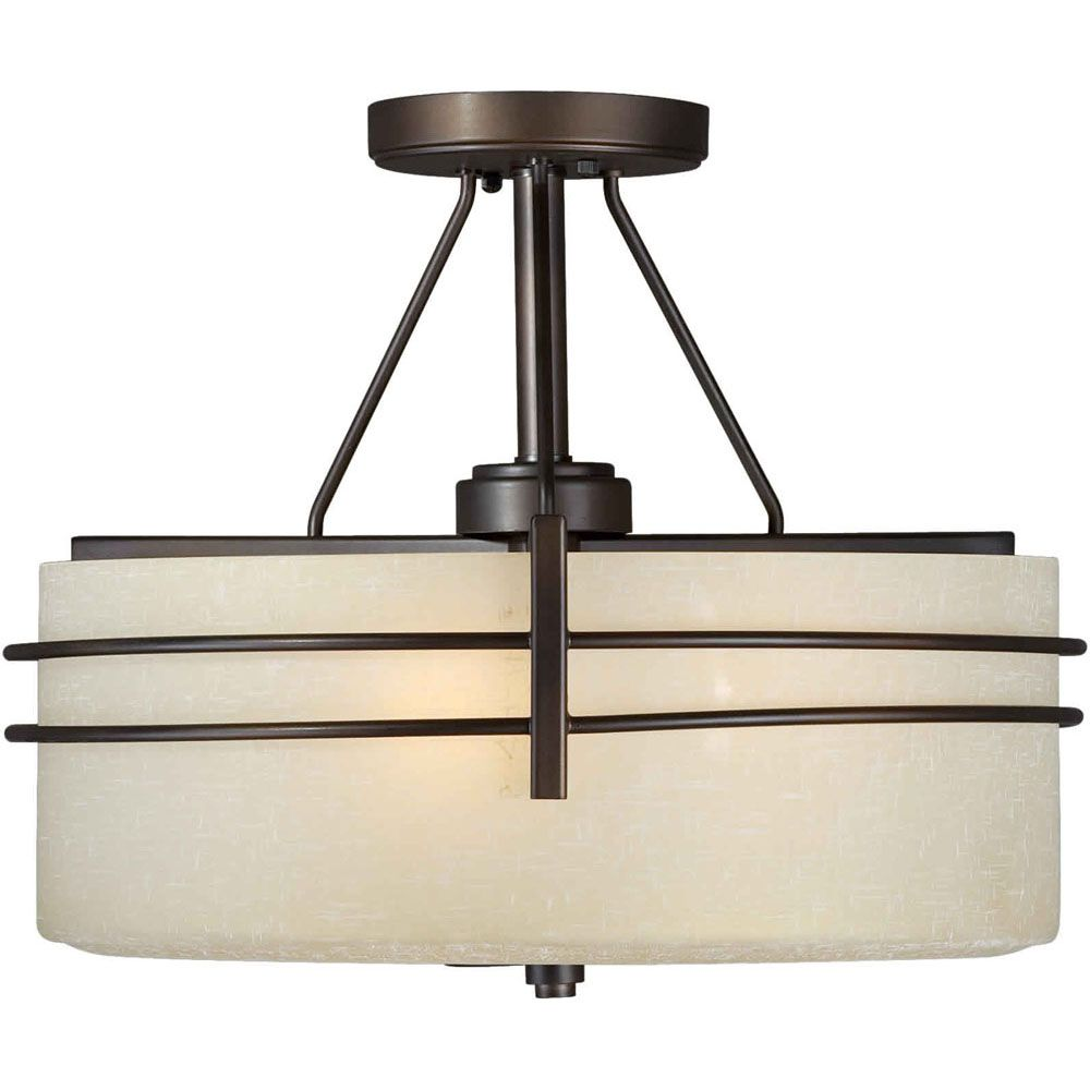 Semi flush mount ceiling lights the home depot canada burton 3 light ceiling antique bronze incandescent semi flush mount aloadofball Choice Image