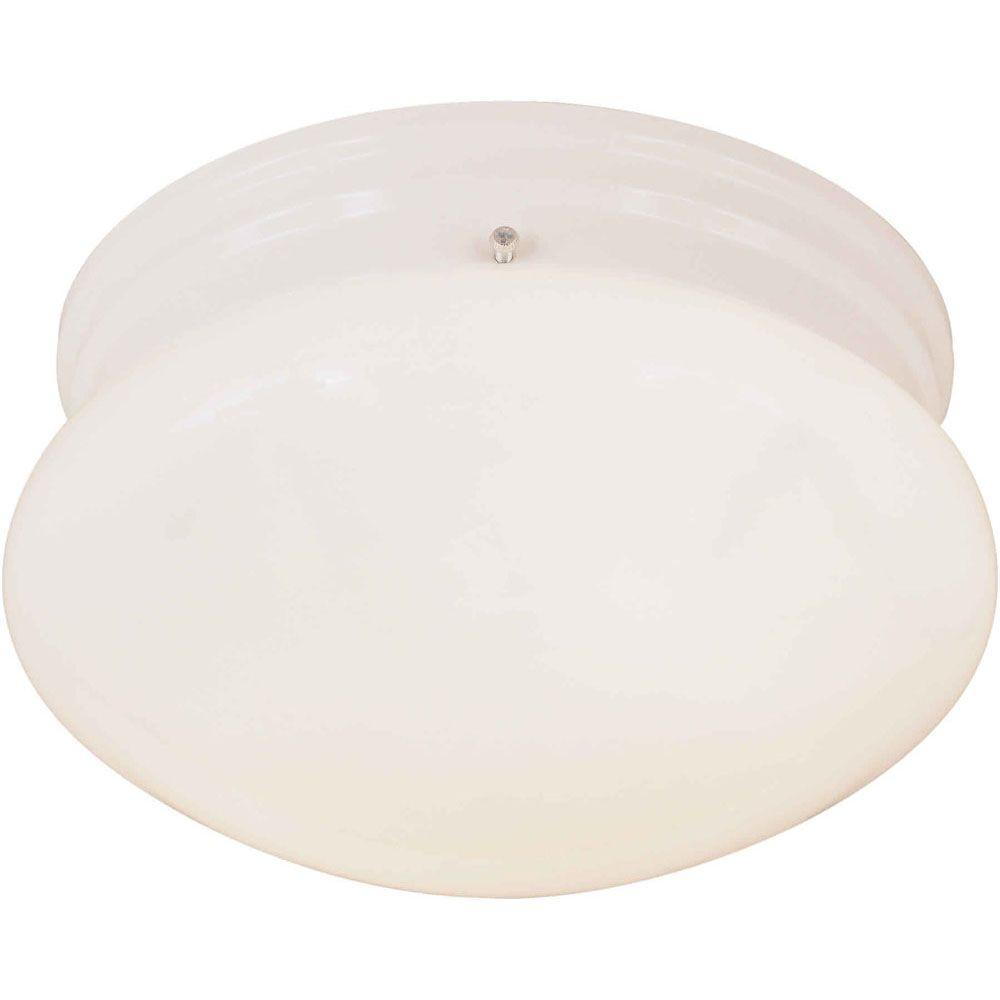 Plafonnier avec abat-jour de spécialité couleur en Blanc