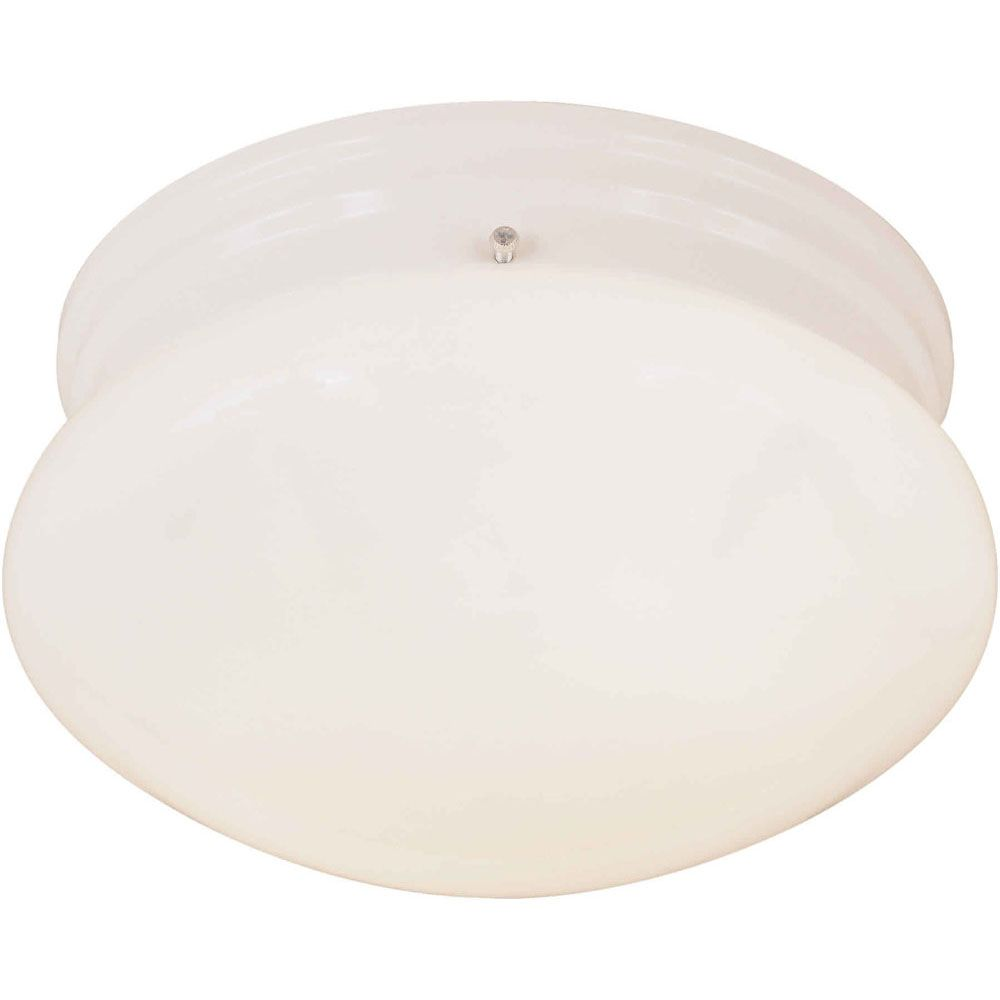 Burton 2-Light Ceiling White Flush Mount