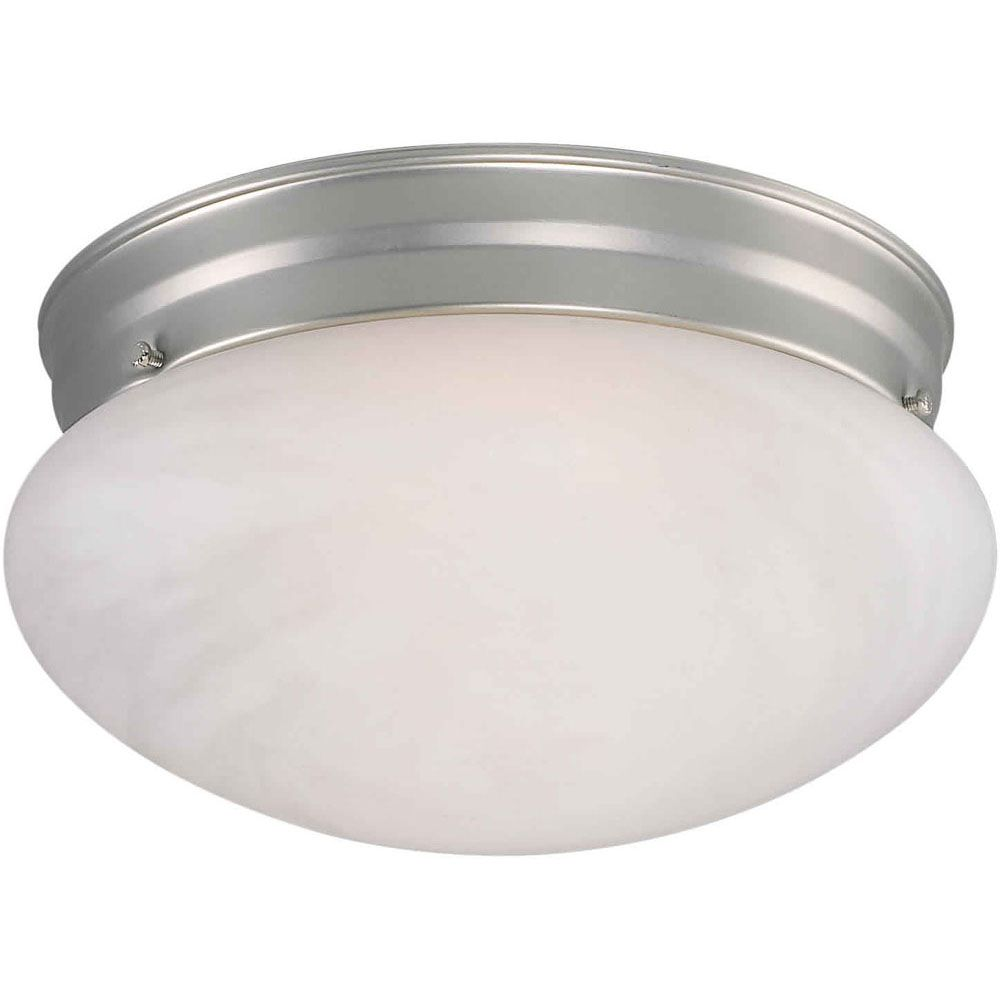 Burton 2-Light Ceiling Brushed Nickel Flush Mount