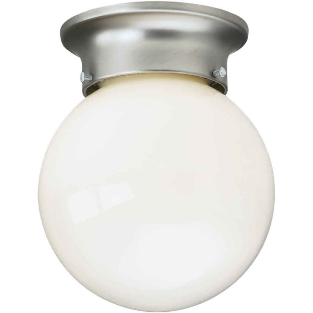 Filament Design Burton 1-Light Ceiling Brushed Nickel Flush Mount