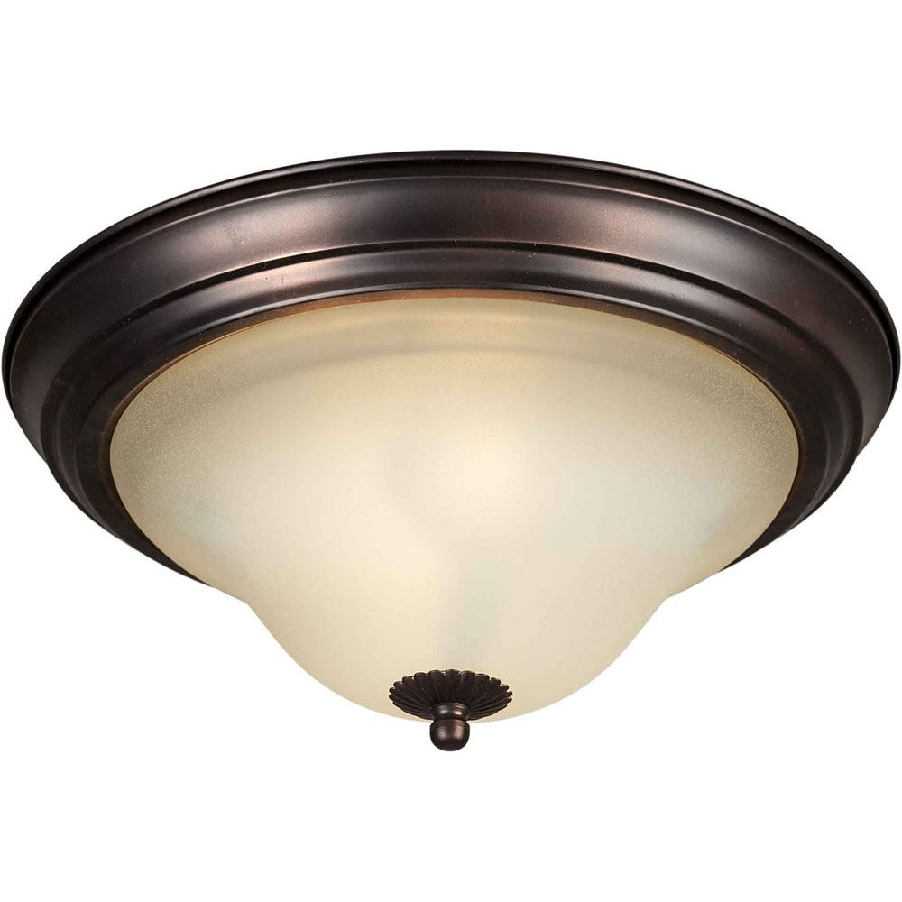 Burton 2-Light Ceiling Antique Bronze Flush Mount