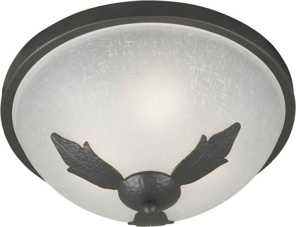 Burton 3 Light Ceiling Natural Iron  Incandescent Flush Mount