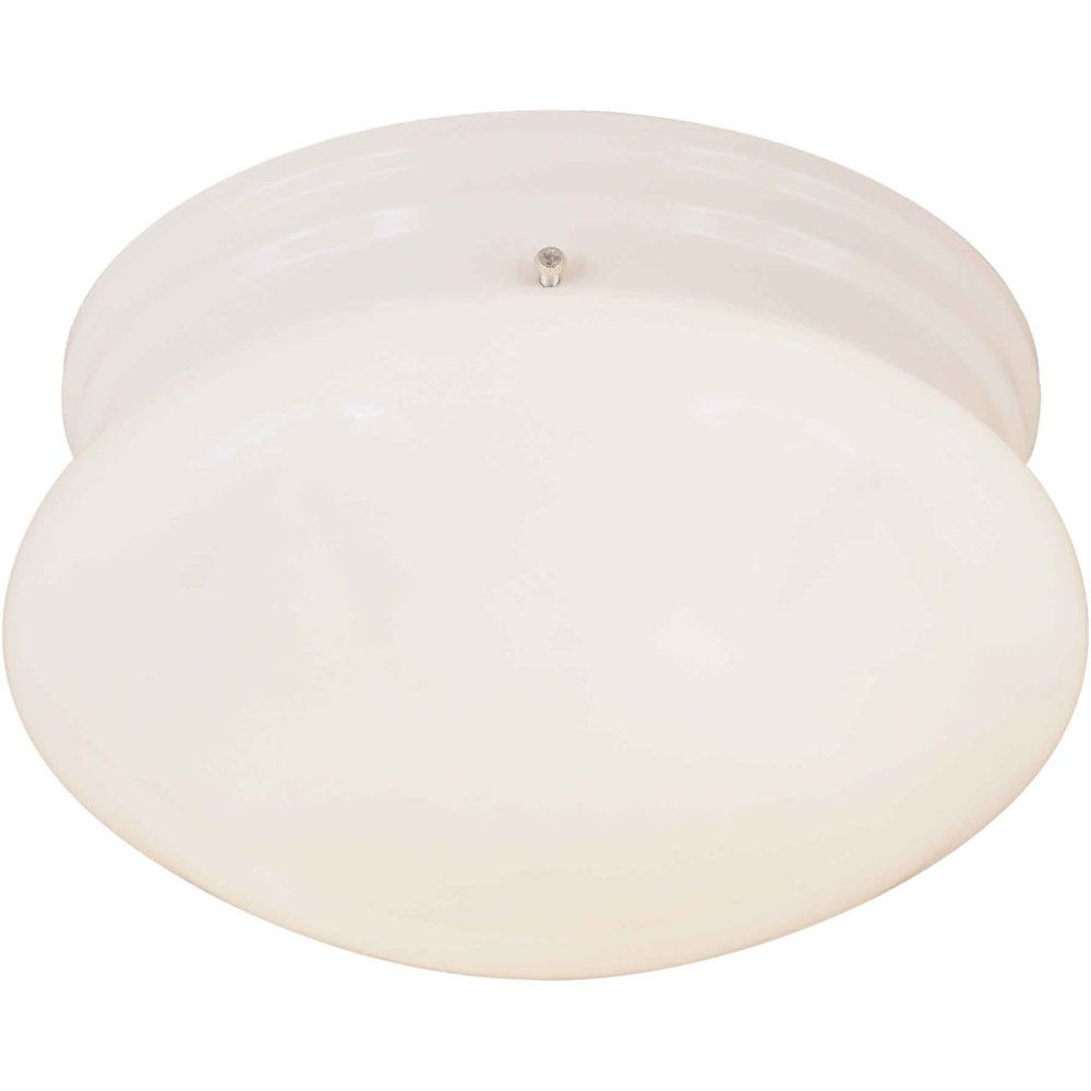 Filament Design Burton 1 Light Ceiling White  Incandescent Flush Mount