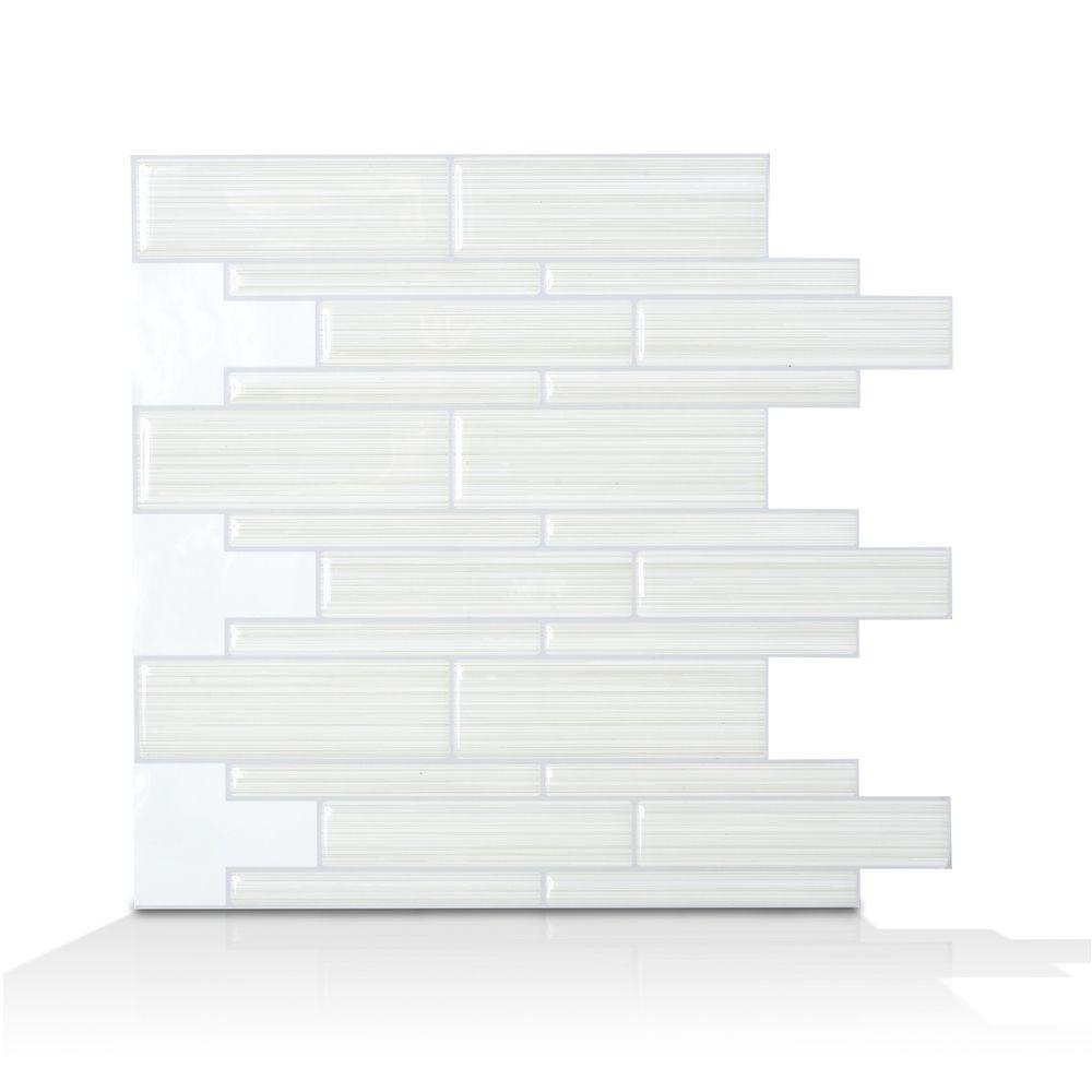 9.75 po x 10.5 po Tuile Autocollante - Infinity Blanco Mosaik
