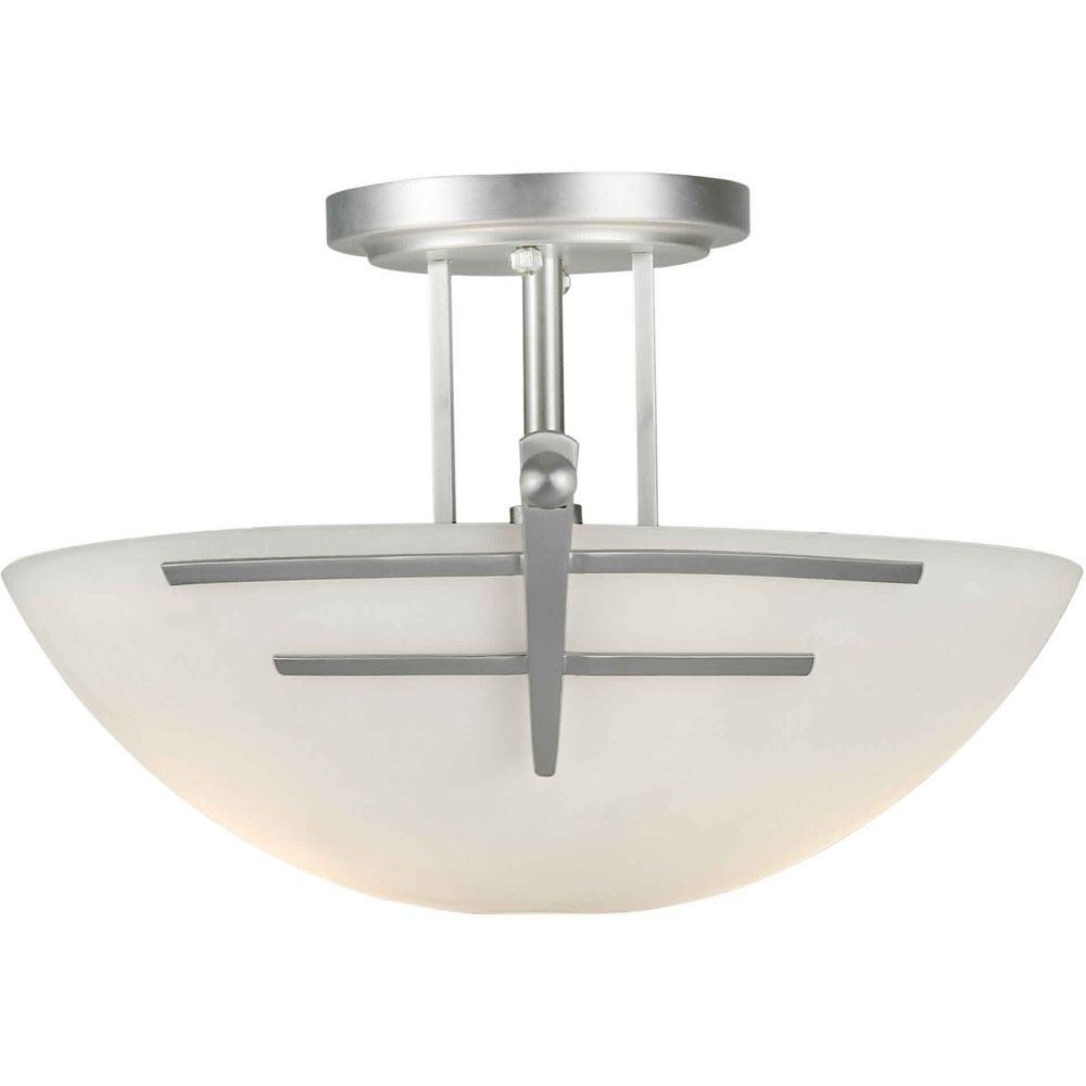 Filament Design Burton 2-Light Ceiling Brushed NickelSemi Flush Mount