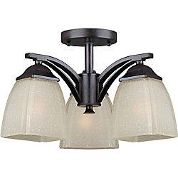 Filament Design Burton 3-Light Ceiling Antique BronzeSemi Flush Mount
