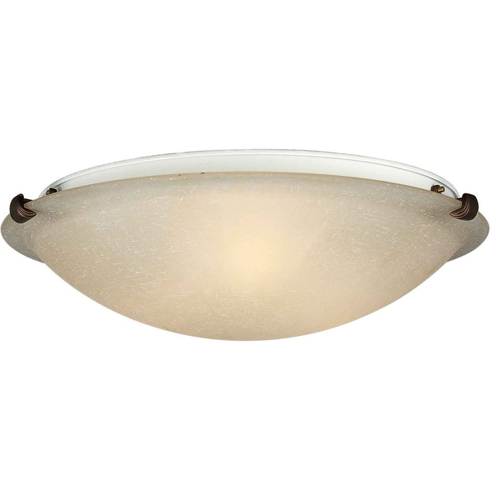Burton 2 Light Ceiling Antique Bronze  Incandescent Flush Mount
