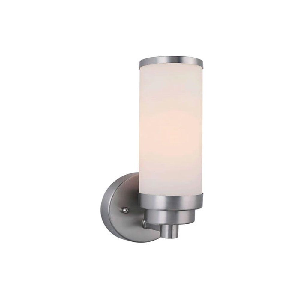 Burton 1 Light Wall Brushed Nickel  Compact Fluorescent Lighting Bath Vanity