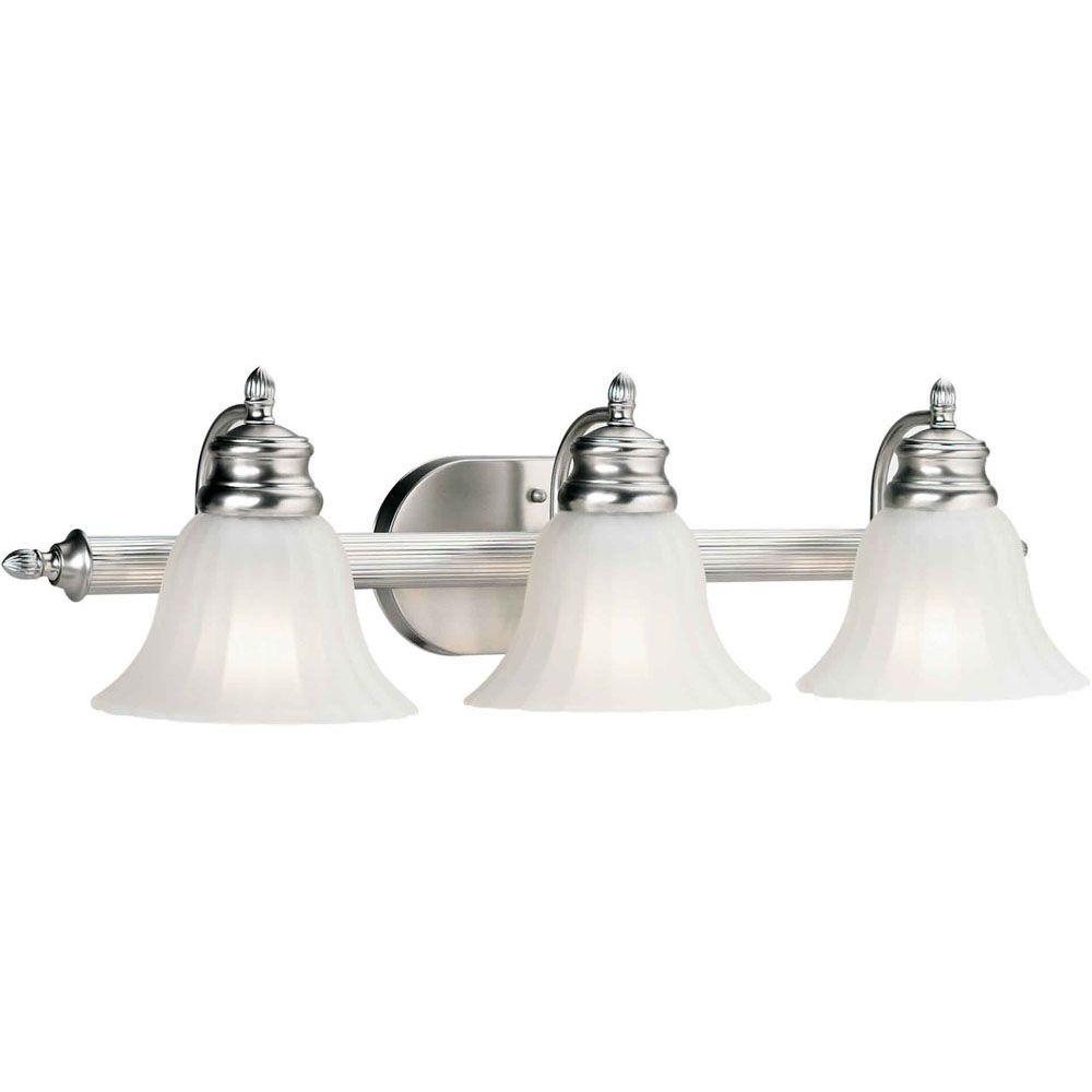 Burton 3-Light Wall Brushed Nickel Bath Vanity