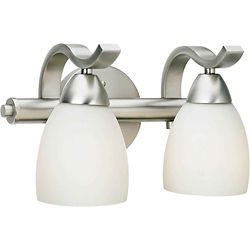 Filament Design Burton 2-Light Wall Brushed Nickel Bath Vanity