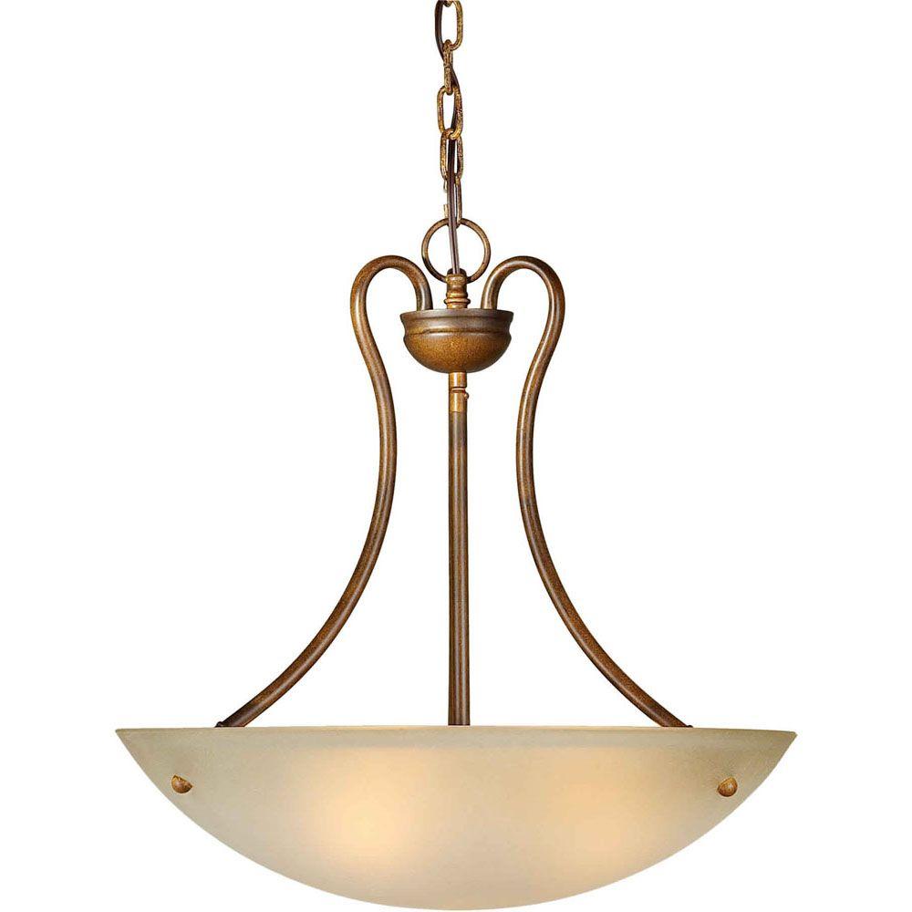 Burton Incandescent Light Ceiling Rustic Sienna  Incandescent Pendant