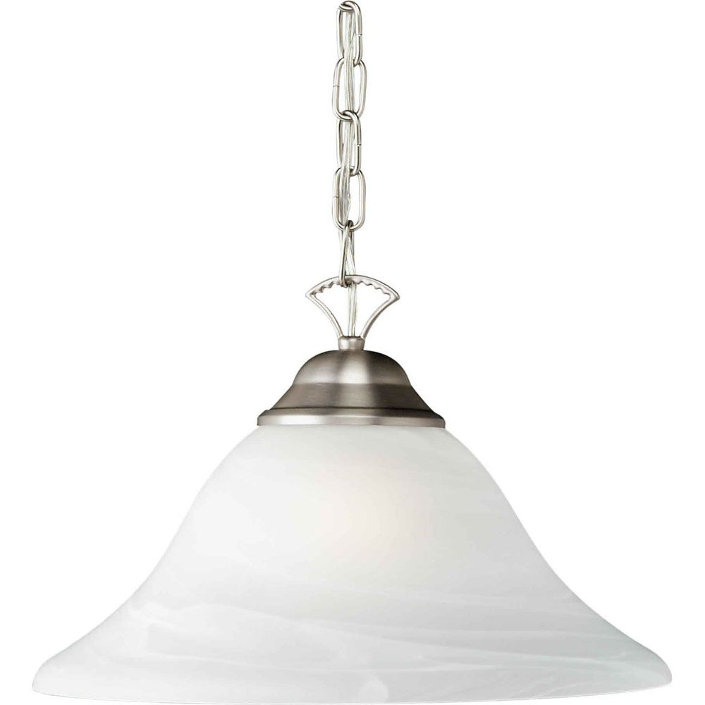 Burton Incandescent Light Ceiling Brushed Nickel  Incandescent Pendant