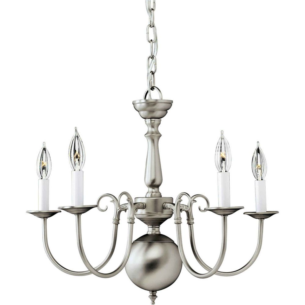 Burton 5 Light Ceiling Brushed Nickel  Incandescent Chandelier