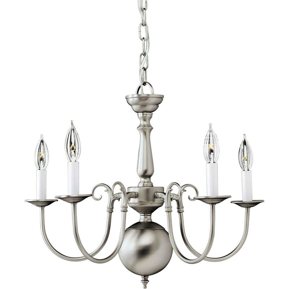 Burton 5-Light Ceiling Brushed Nickel Chandelier