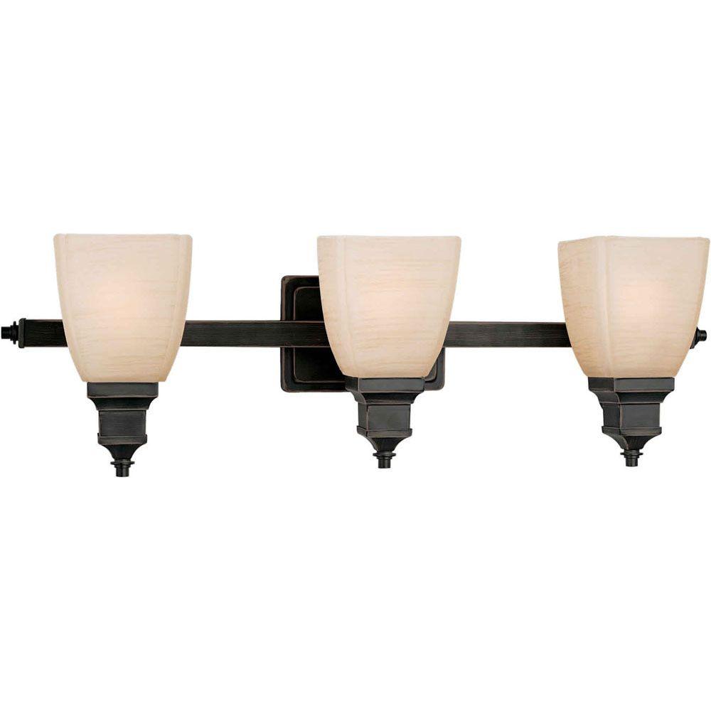 Filament Design Burton 3-Light Wall Bordeaux Bath Vanity