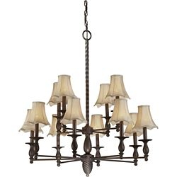 Filament Design Burton 12-Light Ceiling Antique Bronze Chandelier